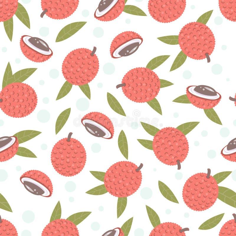 Διανυσματική απεικόνιση των φρούτων Lychee απεικόνιση αποθεμάτων