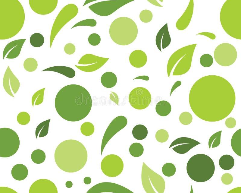 Διανυσματική απεικόνιση υποβάθρου φύλλων φύσης Eco απεικόνιση αποθεμάτων