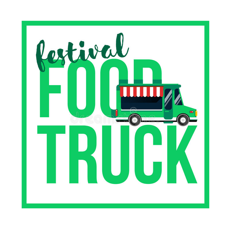 Διανυσματική απεικόνιση φεστιβάλ φορτηγών τροφίμων απεικόνιση αποθεμάτων