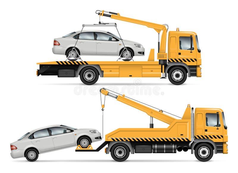 Διανυσματική απεικόνιση φορτηγών ρυμούλκησης απεικόνιση αποθεμάτων