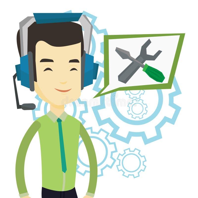 Διανυσματική απεικόνιση χειριστών τεχνικής υποστήριξης απεικόνιση αποθεμάτων