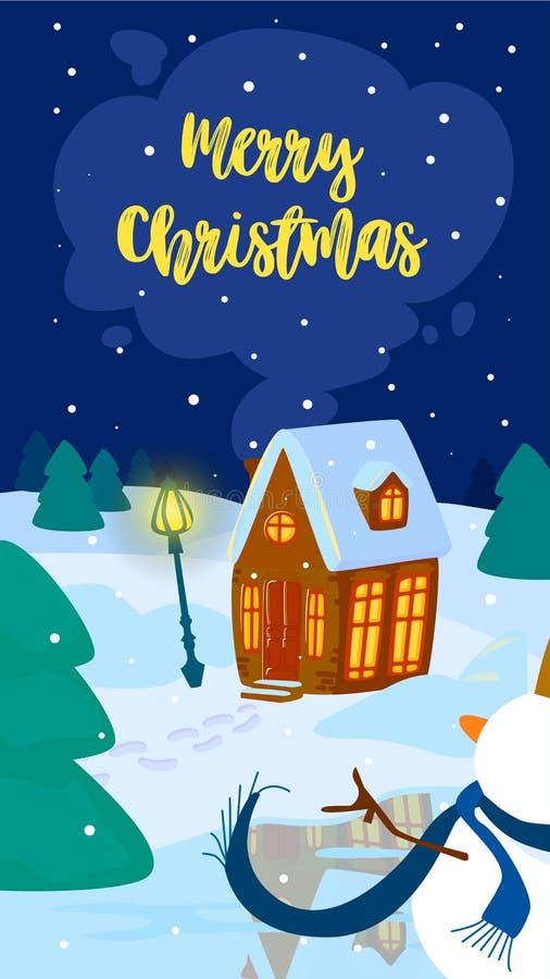 Διανυσματική απεικόνιση Χριστουγέννων Κάθετο κινητό σχήμα cartoon διανυσματική απεικόνιση