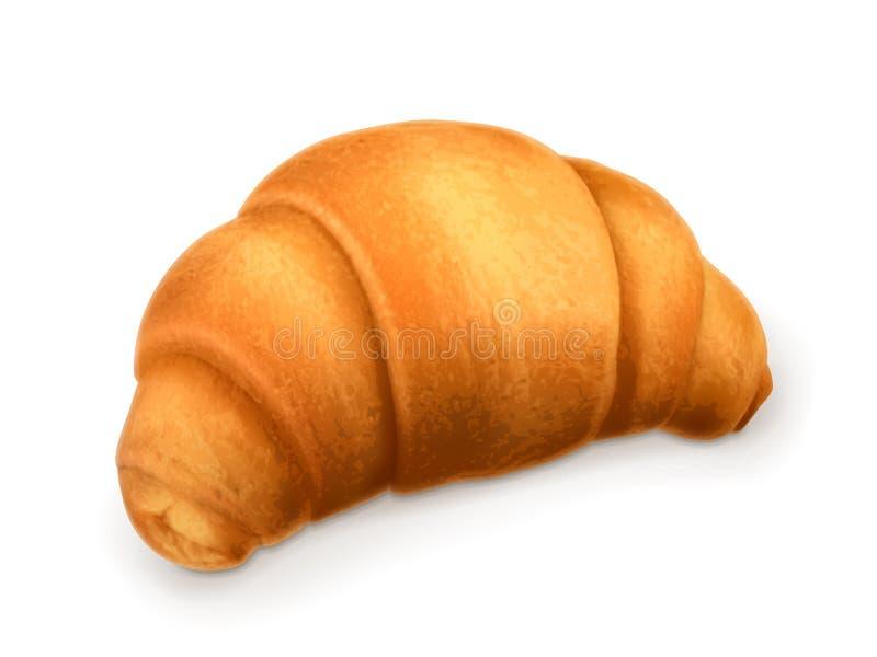 Διανυσματική απεικόνιση Croissant ελεύθερη απεικόνιση δικαιώματος
