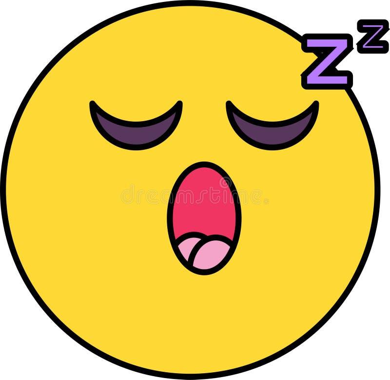Διανυσματική απεικόνιση emoji ύπνου απεικόνιση αποθεμάτων