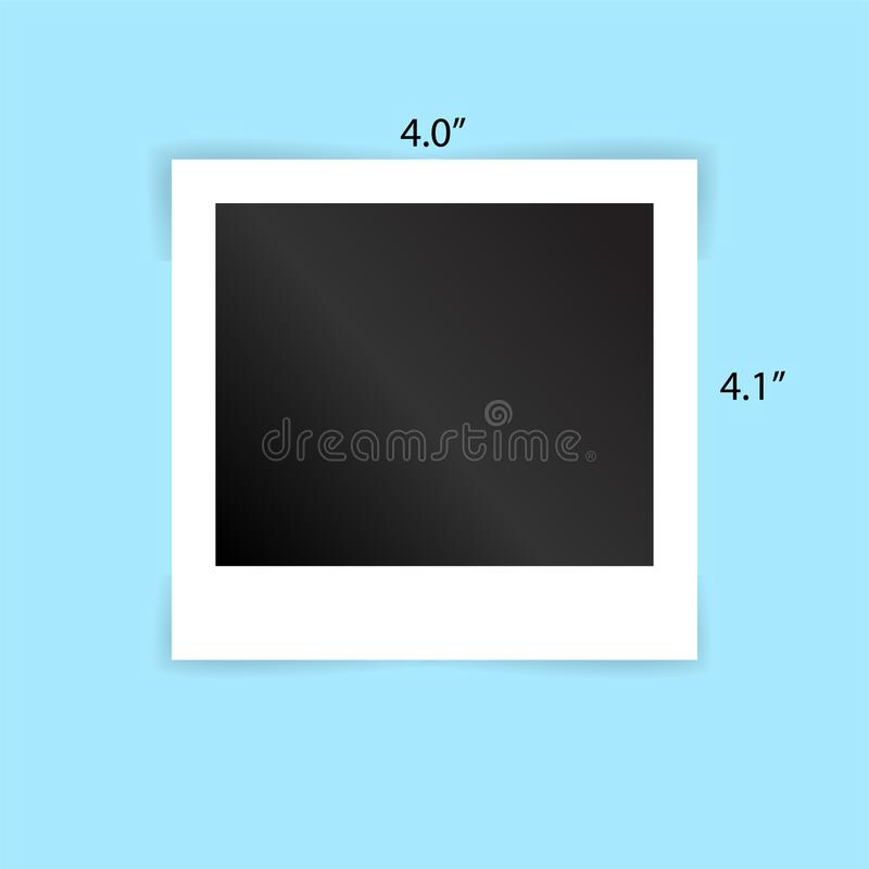 Διανυσματική απεικόνιση EPS10_02 προτύπων πλαισίων polaroid πλαισίων φωτογραφιών απεικόνιση αποθεμάτων