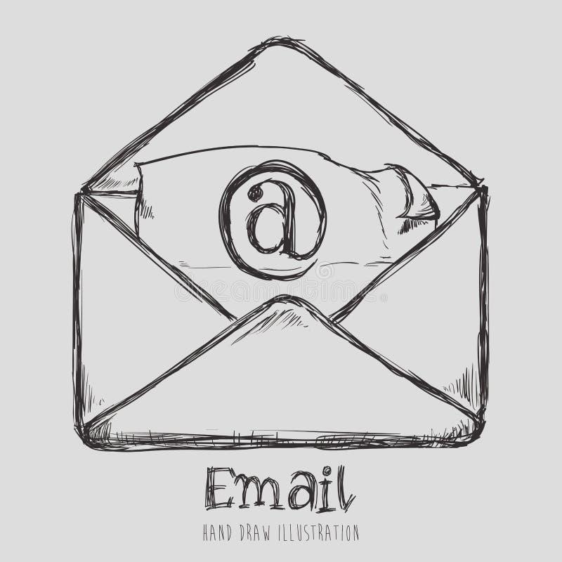 Διανυσματική απεικόνιση eps10 σχεδίου εικονιδίων ταχυδρομείου γραφική ελεύθερη απεικόνιση δικαιώματος