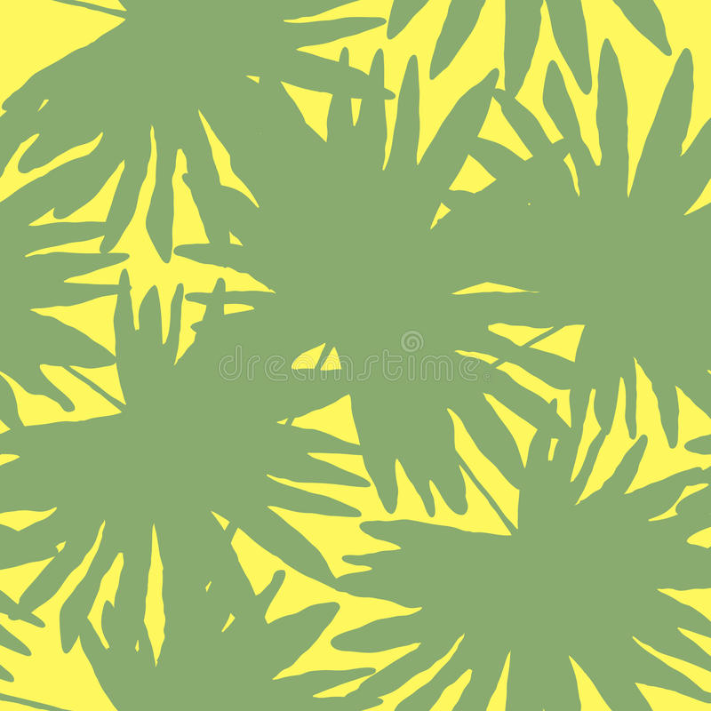 Διανυσματική απεικόνιση floral άνευ ραφής Πράσινος τροπικός φοίνικας leav απεικόνιση αποθεμάτων