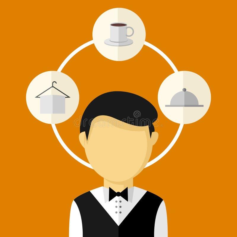 Διανυσματική απεικόνιση Infographic εργασίας υπηρετριών ελεύθερη απεικόνιση δικαιώματος
