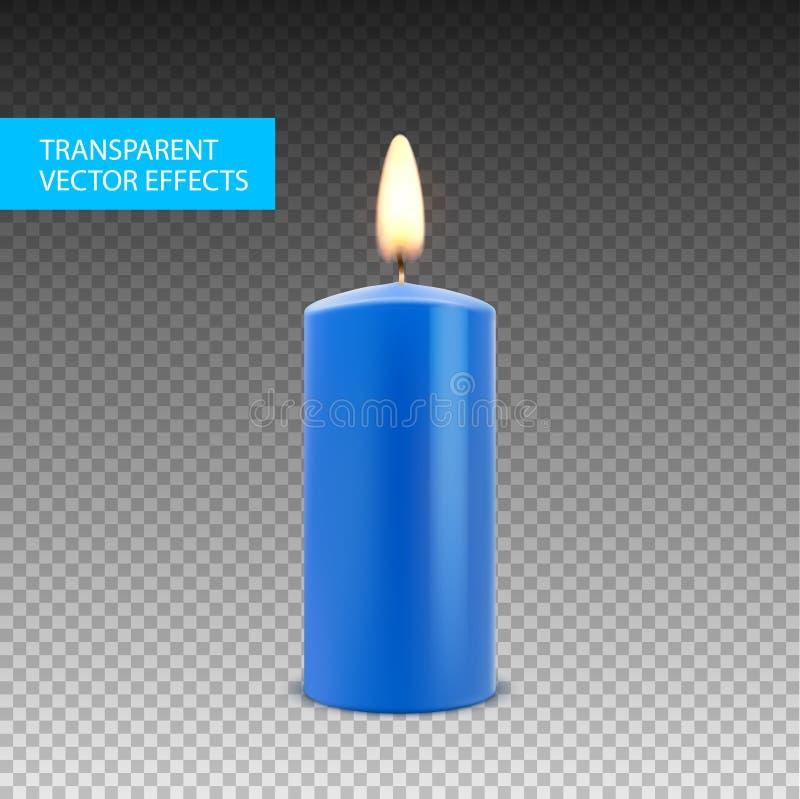 Διανυσματική απομονωμένη κερί διακόσμηση κεριών Φλόγα φωτός ιστιοφόρου για τον εορτασμό Φως κεριών πυράκτωσης ρεαλιστικό σε διαφα ελεύθερη απεικόνιση δικαιώματος