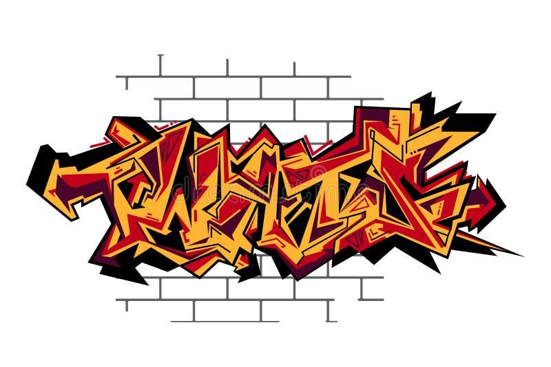 Διανυσματική αστική τέχνη γκράφιτι ελεύθερη απεικόνιση δικαιώματος