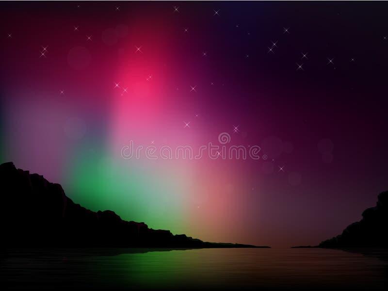 Διανυσματική αυγή Borealis ελεύθερη απεικόνιση δικαιώματος