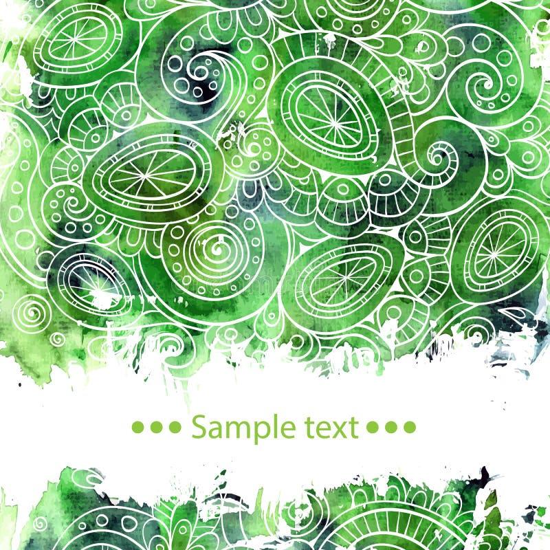 Διανυσματική αφίσα προτύπων με το χρώμα watercolor και ελεύθερη απεικόνιση δικαιώματος