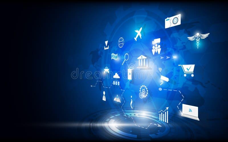 Διανυσματική αφηρημένη έννοια καινοτομίας τεχνολογίας υποβάθρου απεικόνιση αποθεμάτων
