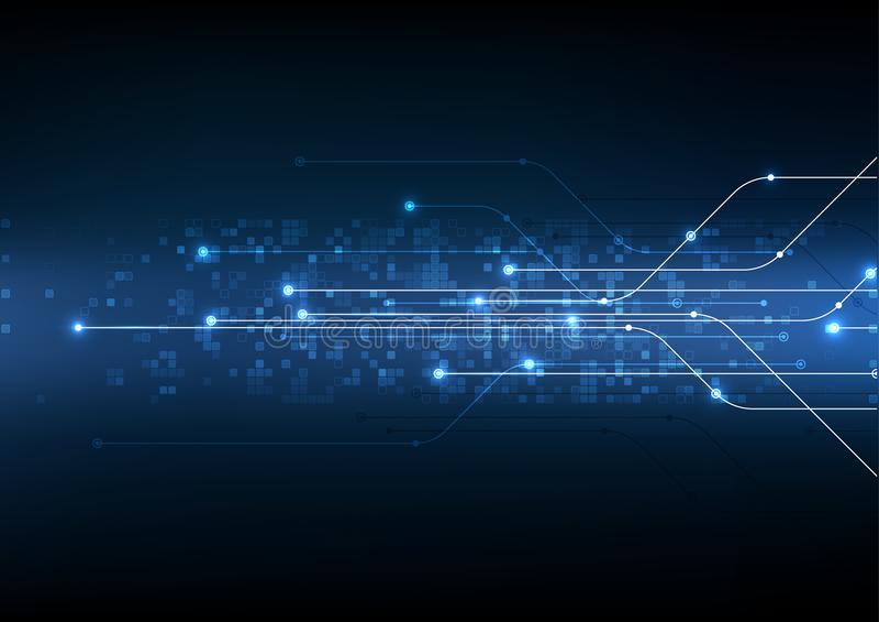 Διανυσματική αφηρημένη ηλεκτρονική απεικόνιση τεχνολογίας υποβάθρου ομο στοκ εικόνα με δικαίωμα ελεύθερης χρήσης