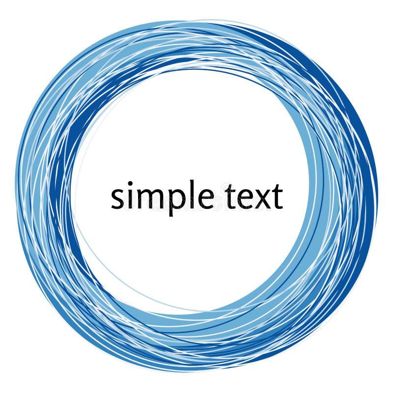 Διανυσματική αφηρημένη μπλε μορφή στροβίλου που απομονώνεται στο άσπρο υπόβαθρο απεικόνιση αποθεμάτων