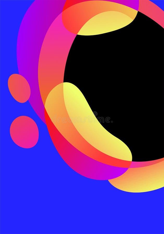 Διανυσματική αφηρημένη φουτουριστική κάρτα, φωτεινό υπόβαθρο μορφών κλίσης υγρό Γεωμετρικά κυματιστά ρευστά στοιχεία στο καθιερών διανυσματική απεικόνιση