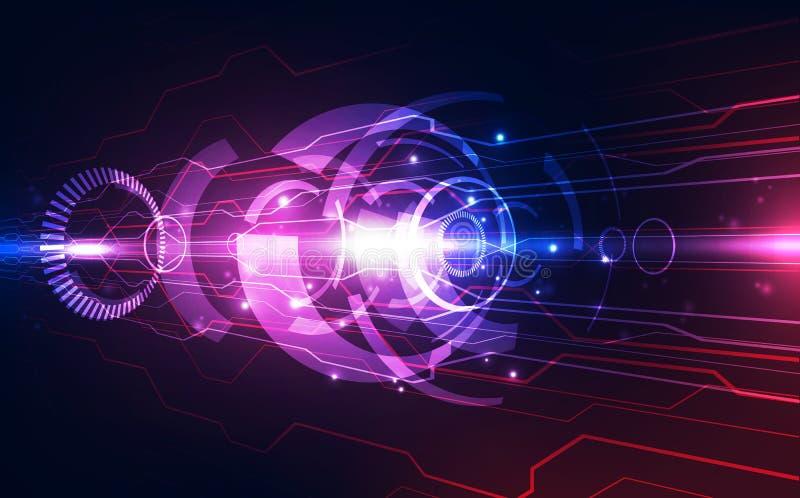 Διανυσματική αφηρημένη φουτουριστική υψηλή ταχύτητα, απεικόνισης υψηλή ψηφιακή έννοια υποβάθρου τεχνολογίας ζωηρόχρωμη απεικόνιση αποθεμάτων
