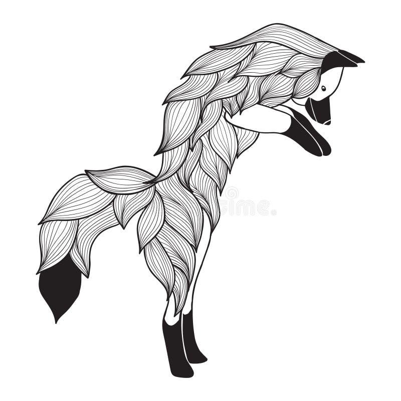 Διανυσματική αλεπού άλματος Doodle απεικόνιση αποθεμάτων