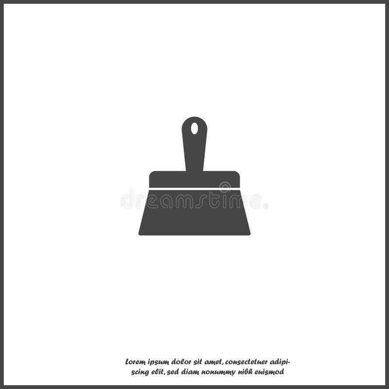 Διανυσματική βούρτσα χρωμάτων εικόνας εικονιδίων απομονωμένο στο λευκό υπόβαθρο διανυσματική απεικόνιση