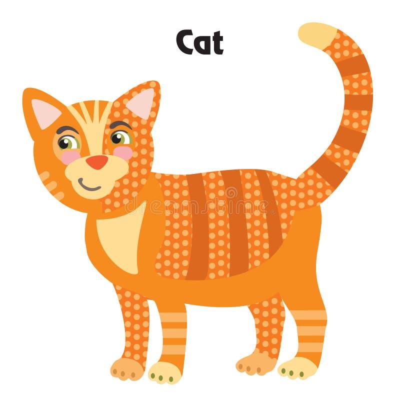 Διανυσματική γάτα κινούμενων σχεδίων διανυσματική απεικόνιση