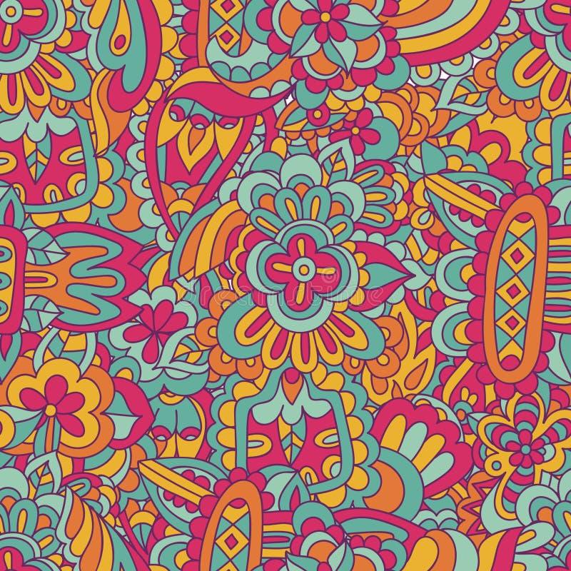 Διανυσματική γεωμετρική άνευ ραφής αφηρημένη εθνική ζωγραφική doodle διανυσματική απεικόνιση
