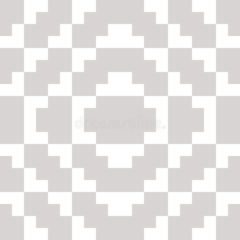 Διανυσματική γεωμετρική παραδοσιακή λαϊκή διακόσμηση Άσπρο και γκρίζο άνευ ραφής σχέδιο ελεύθερη απεικόνιση δικαιώματος