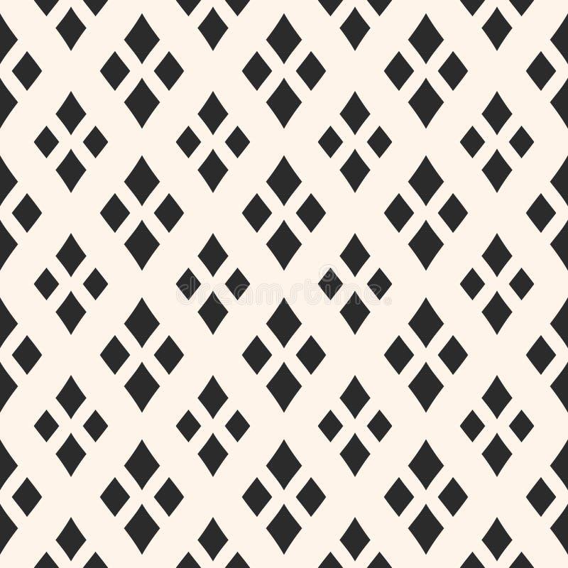 Διανυσματική γεωμετρική σύσταση με τα rhombuses Κλασική σύσταση, διαμάντια διανυσματική απεικόνιση