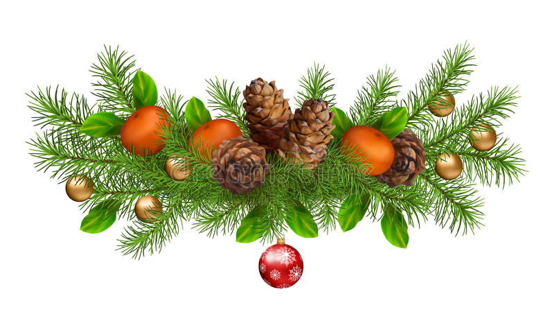 Διανυσματική γιρλάντα διακοπών Χριστουγέννων διανυσματική απεικόνιση