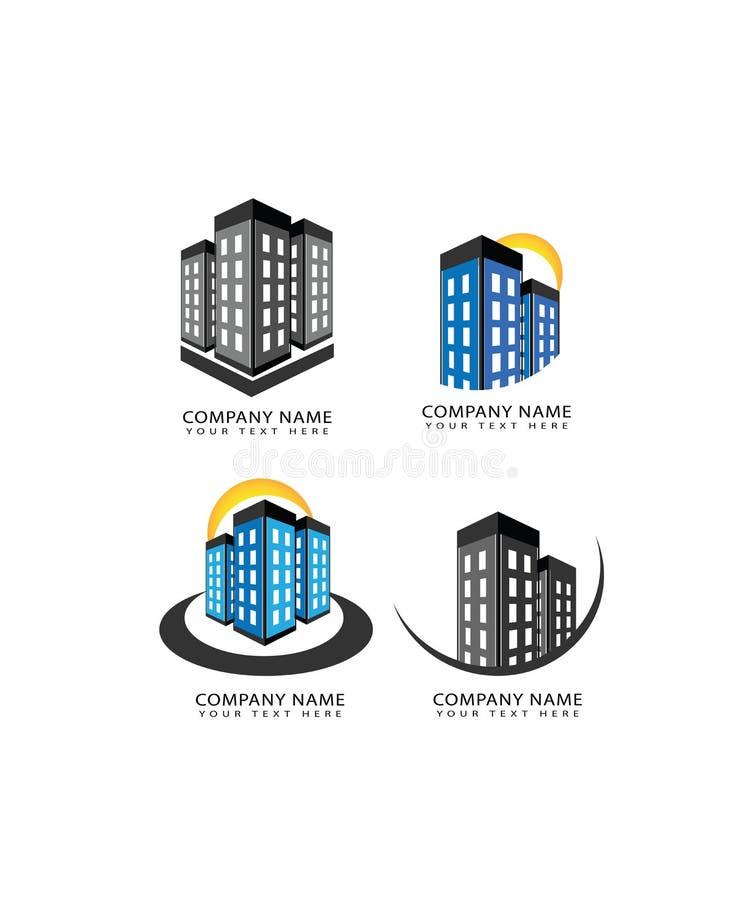 Διανυσματική δέσμη ακίνητων περιουσιών, editable για το επιχειρησιακό λογότυπο, την ταυτότητα επιχείρησης και περισσότερους ελεύθερη απεικόνιση δικαιώματος