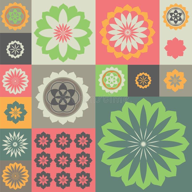 Διανυσματική διακόσμηση από την ειδική αίσθηση λουλουδιών διανυσματική απεικόνιση