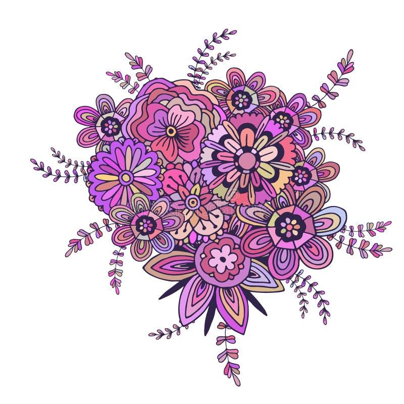 διανυσματική διακόσμηση λουλουδιών Εκτυπώσιμη τυπωμένη ύλη τέχνης απεικόνιση αποθεμάτων