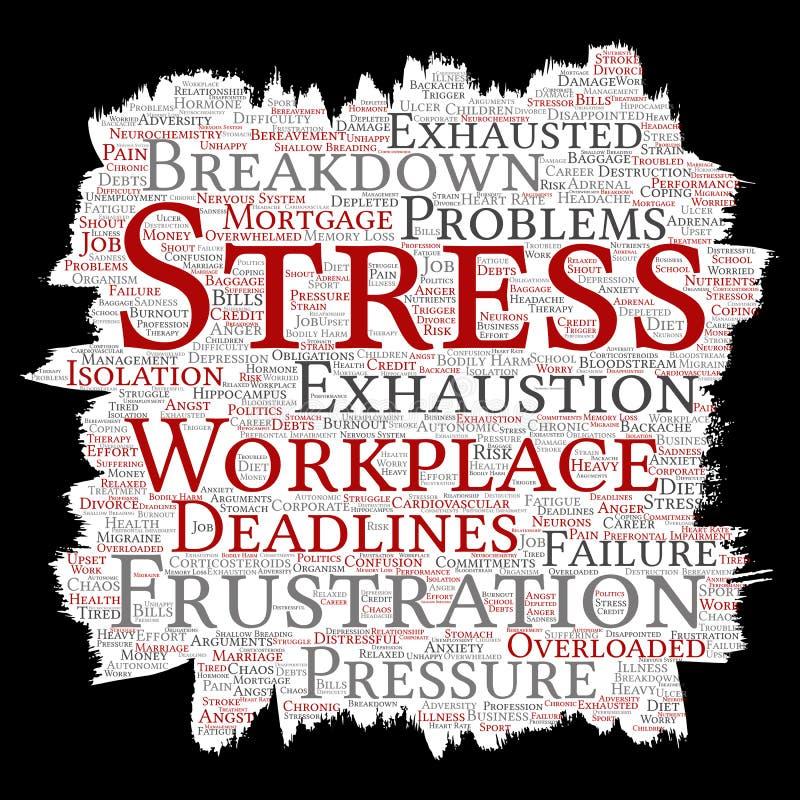 Διανυσματική διανοητική πίεση στην πίεση εργασίας εργασιακών χώρων ελεύθερη απεικόνιση δικαιώματος