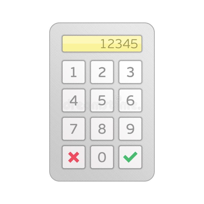 Διανυσματική είσοδος αριθμητικών πληκτρολογίων απεικόνιση αποθεμάτων
