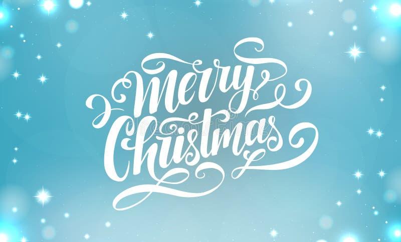 Διανυσματική εγγραφή Χαρούμενα Χριστούγεννας Χειρόγραφη κάρτα Χριστουγέννων Σύγχρονη καλλιγραφία Γραμμένο πρότυπο σχεδίου διακοπώ απεικόνιση αποθεμάτων