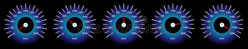 Διανυσματική εικόνα Ð ¡ Ð ¿ ñ-Ð'Ð ¾ Ð ¼ του ταχυμέτρου αυτοκινήτων με τη διαφορετική ταχύτητα indicatorsÐµÑ 'Ñ€ διανυσματική απεικόνιση