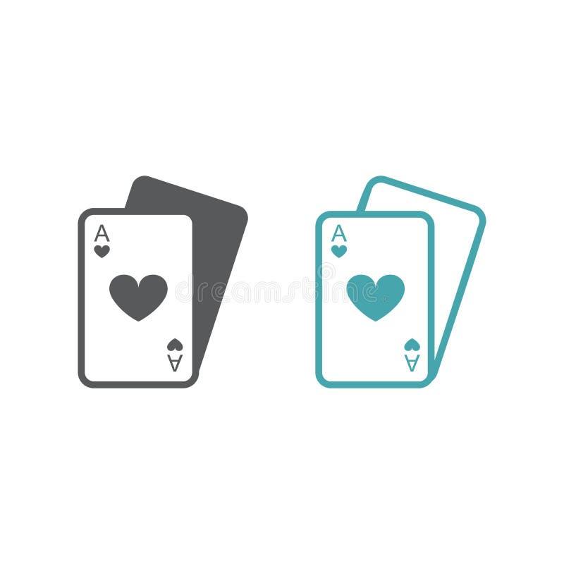 Διανυσματική εικόνα δύο συνόλων καρτών παιχνιδιού ελεύθερη απεικόνιση δικαιώματος