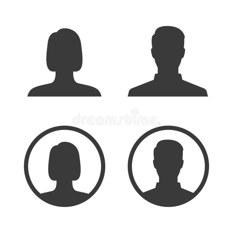 Διανυσματική εικόνα εικονιδίων ειδώλων profil ελεύθερη απεικόνιση δικαιώματος