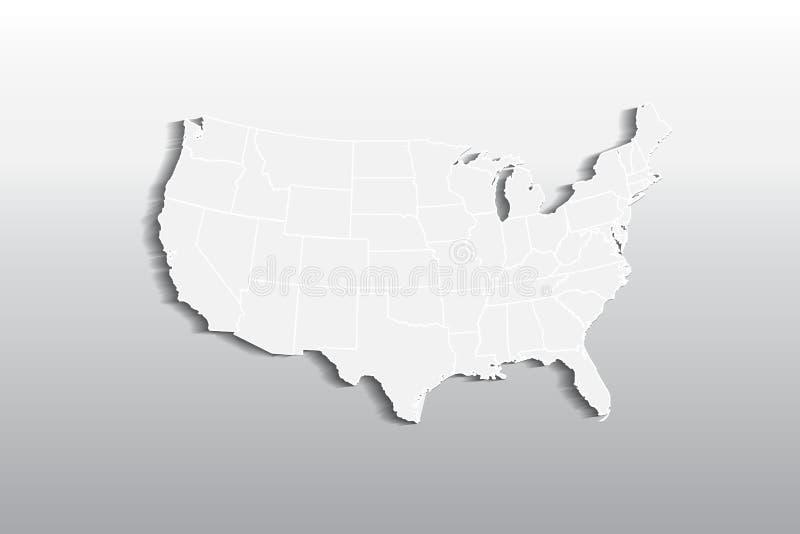 Διανυσματική εικόνα εικονιδίων λογότυπων ΑΜΕΡΙΚΑΝΙΚΩΝ χαρτών απεικόνιση αποθεμάτων