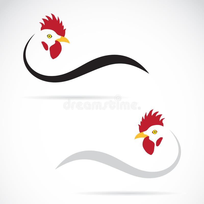 Διανυσματική εικόνα ενός κόκκορα διανυσματική απεικόνιση