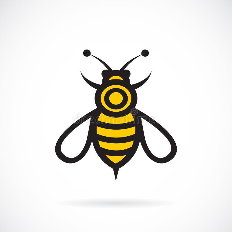 Διανυσματική εικόνα ενός σχεδίου μελισσών απεικόνιση αποθεμάτων