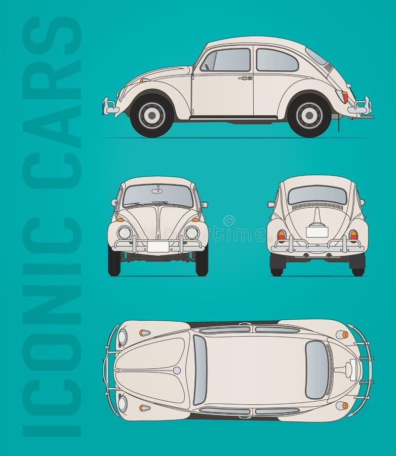 Διανυσματική εικόνα κανθάρων του Volkswagen απεικόνιση αποθεμάτων