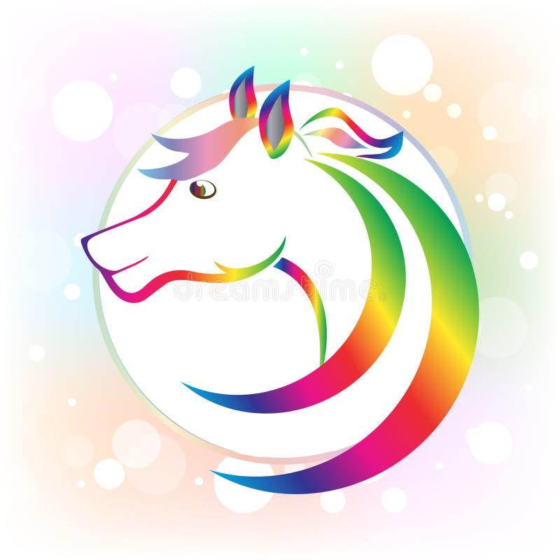 Διανυσματική εικόνα λογότυπων εικονιδίων επικεφαλής πλαισίων ομορφιάς αλόγων ελεύθερη απεικόνιση δικαιώματος