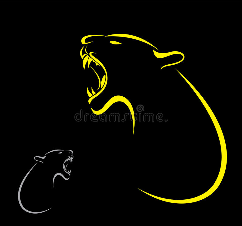 Διανυσματική εικόνα μιας τίγρης ελεύθερη απεικόνιση δικαιώματος