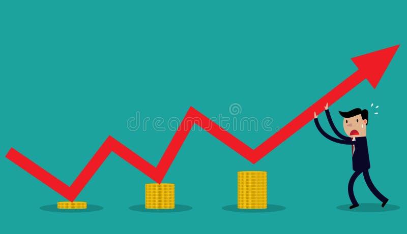 Διανυσματική εικόνα του επιχειρηματία διανυσματική απεικόνιση