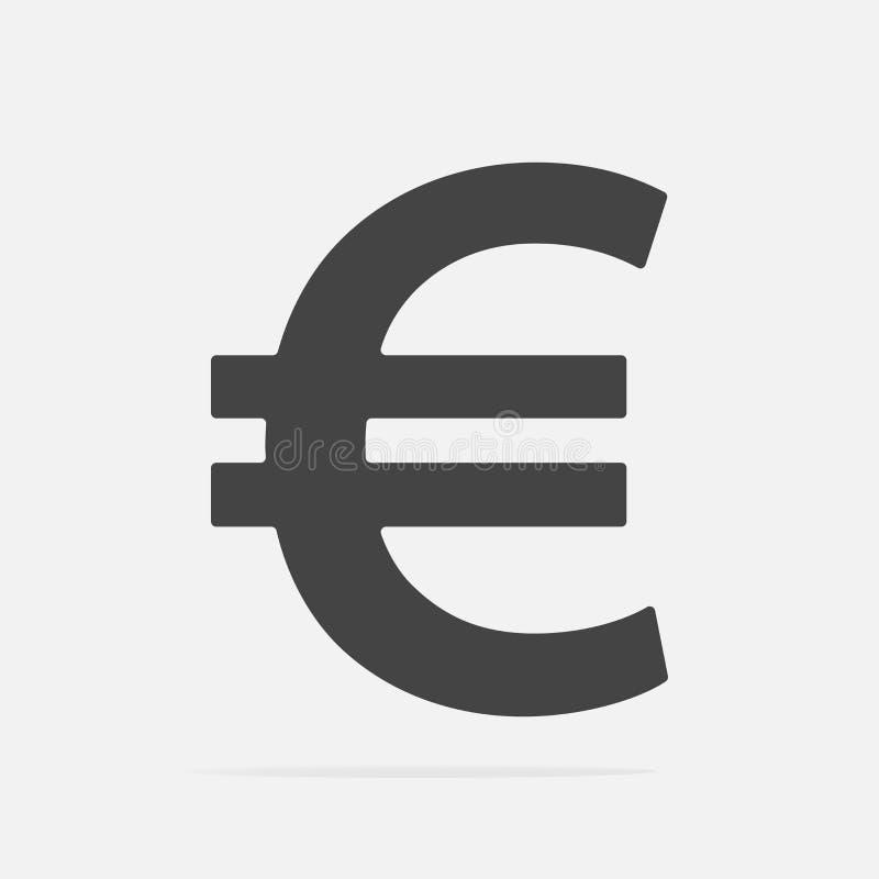 Διανυσματική εικόνα του ευρο- σημαδιού Διανυσματικό ευρώ απεικόνισης απεικόνιση αποθεμάτων