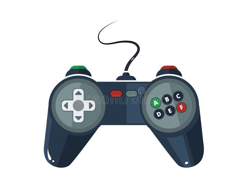 Διανυσματική εικόνα του gamepad στο επίπεδο ύφος διανυσματική απεικόνιση