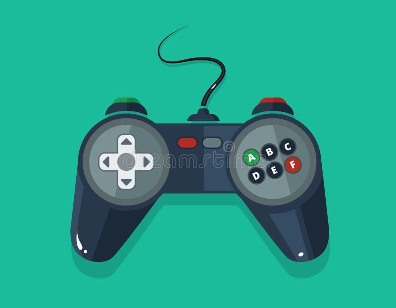Διανυσματική εικόνα του gamepad στο επίπεδο ύφος απεικόνιση αποθεμάτων