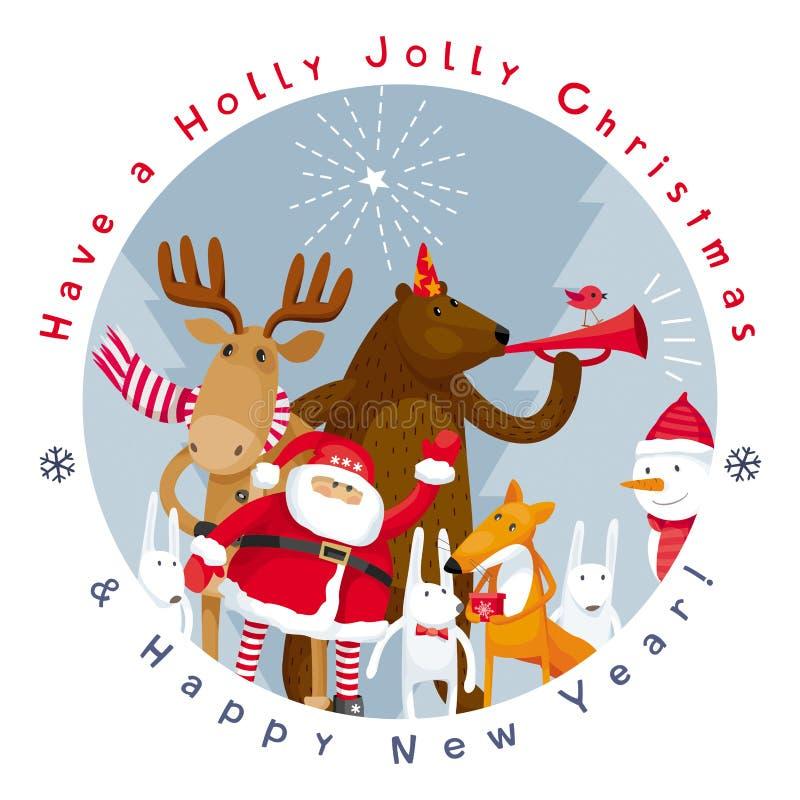 Διανυσματική εικόνα Χαρούμενα Χριστούγεννας ελεύθερη απεικόνιση δικαιώματος