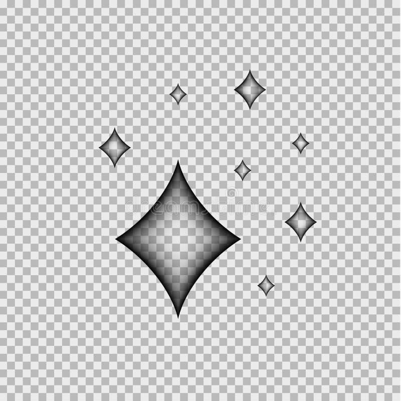 Διανυσματική επίδραση Comics: Το διαφανές διαμάντι λάμπει, απομονωμένη απεικόνιση ελεύθερη απεικόνιση δικαιώματος