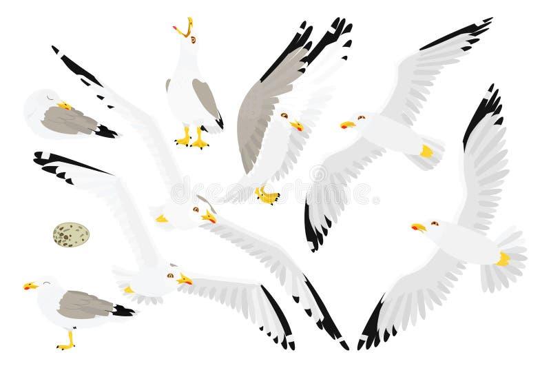 Διανυσματική επίπεδη τέχνη συνδετήρων κινούμενων σχεδίων ζωική διανυσματική απεικόνιση